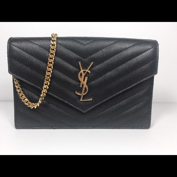 ad60809f30be Yves Saint Laurent Wallet on Chain. M 5c5f48c1baebf6c6e75ebea7
